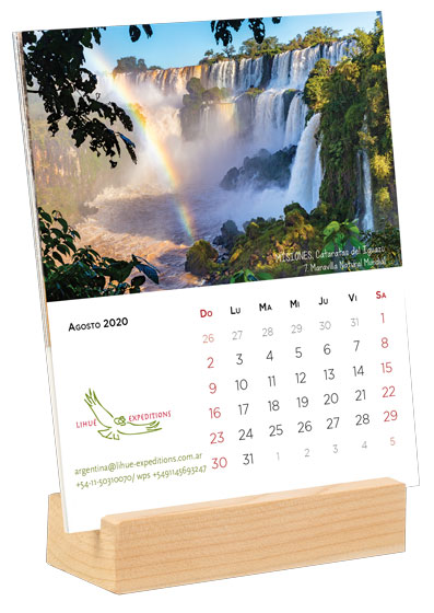 Calendario Agosto 2020 Argentina.Argentina 2020 Calendario 7 Maravillas Naturales Base De